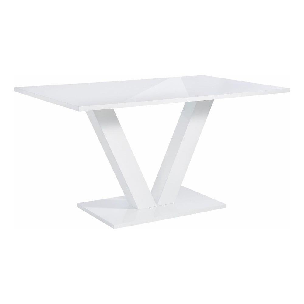 Lesklý bílý jídelní stůl Støraa Allen, 90x140cm