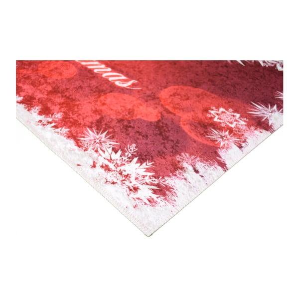 Covor Vitaus Merry Christmas, 120 x 160 cm, alb-roșu