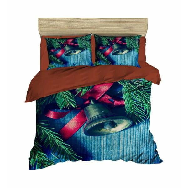 Davide karácsonyi, kétszemélyes ágyneműhuzat lepedővel, 160 x 220 cm