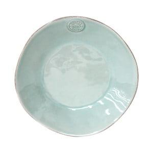 Tyrkysový keramický polévkový talíř Ego Dekor Nova,Ø25 cm