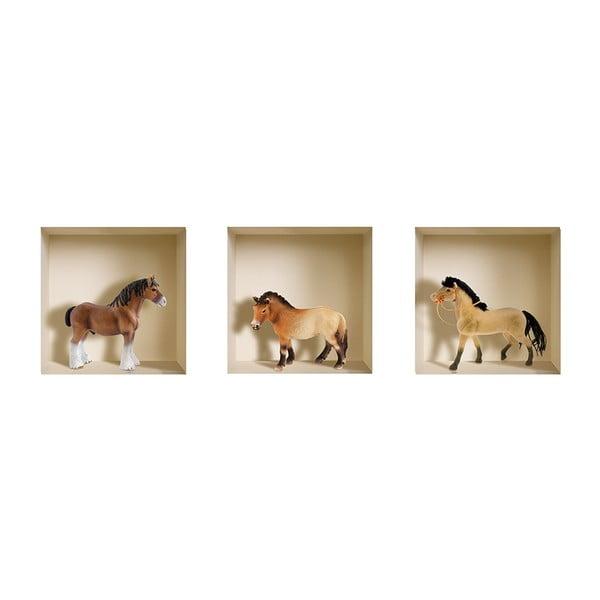 3D samolepky na zeď Pony