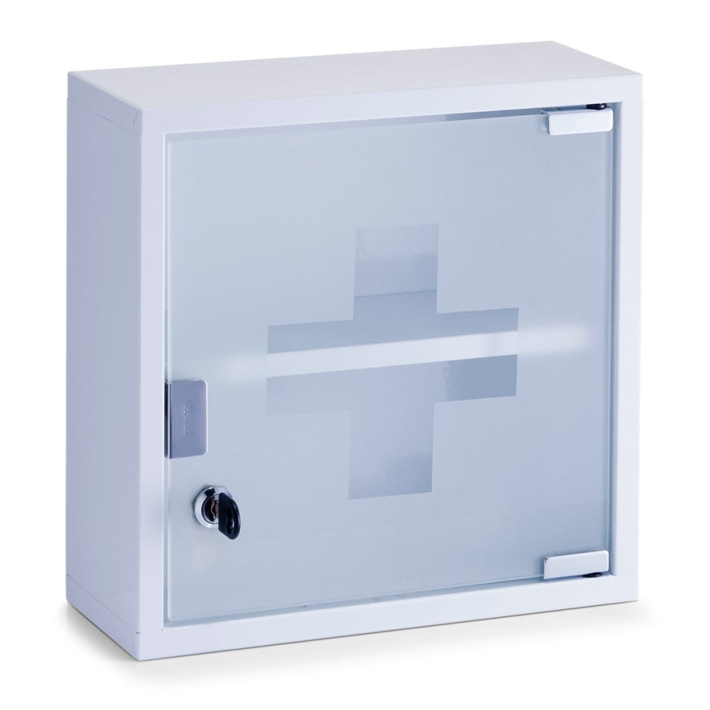 Bílá nástěnná skříňka na lékárničku Zeller Help