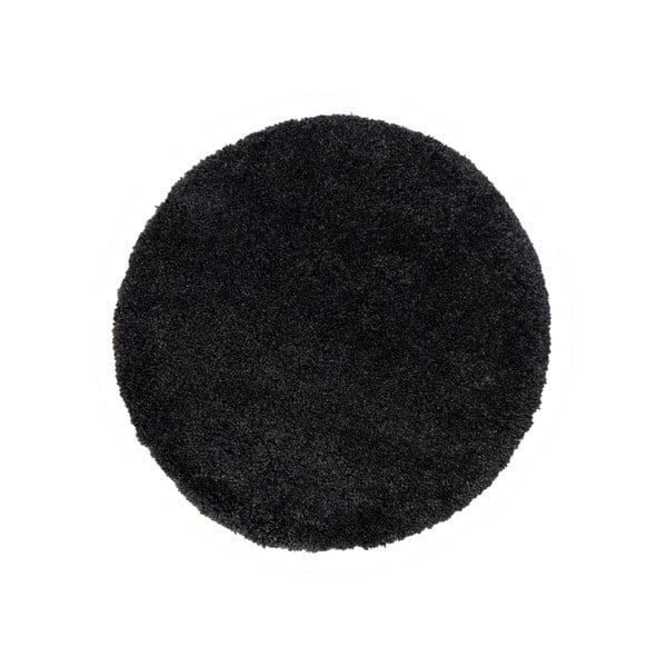 Czarny dywan Flair Rugs Sparks, ⌀ 133 cm