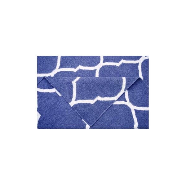 Vlněný koberec Caroline Dark Blue, 140x200