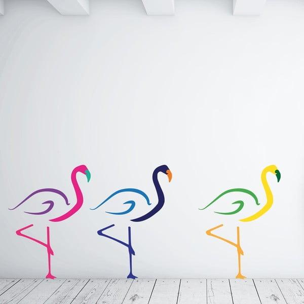 Samolepka na stěnu Flamingos