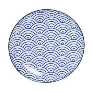 Modrý porcelánový talíř Tokyo Design Studio Wave
