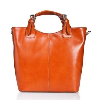 Geantă din piele Massimo Castelli Valeria, maro – portocaliu de la Massimo Castelli