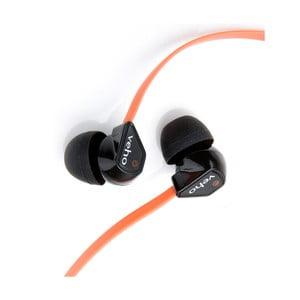 Oranžová sluchátka do uší Veho Z1