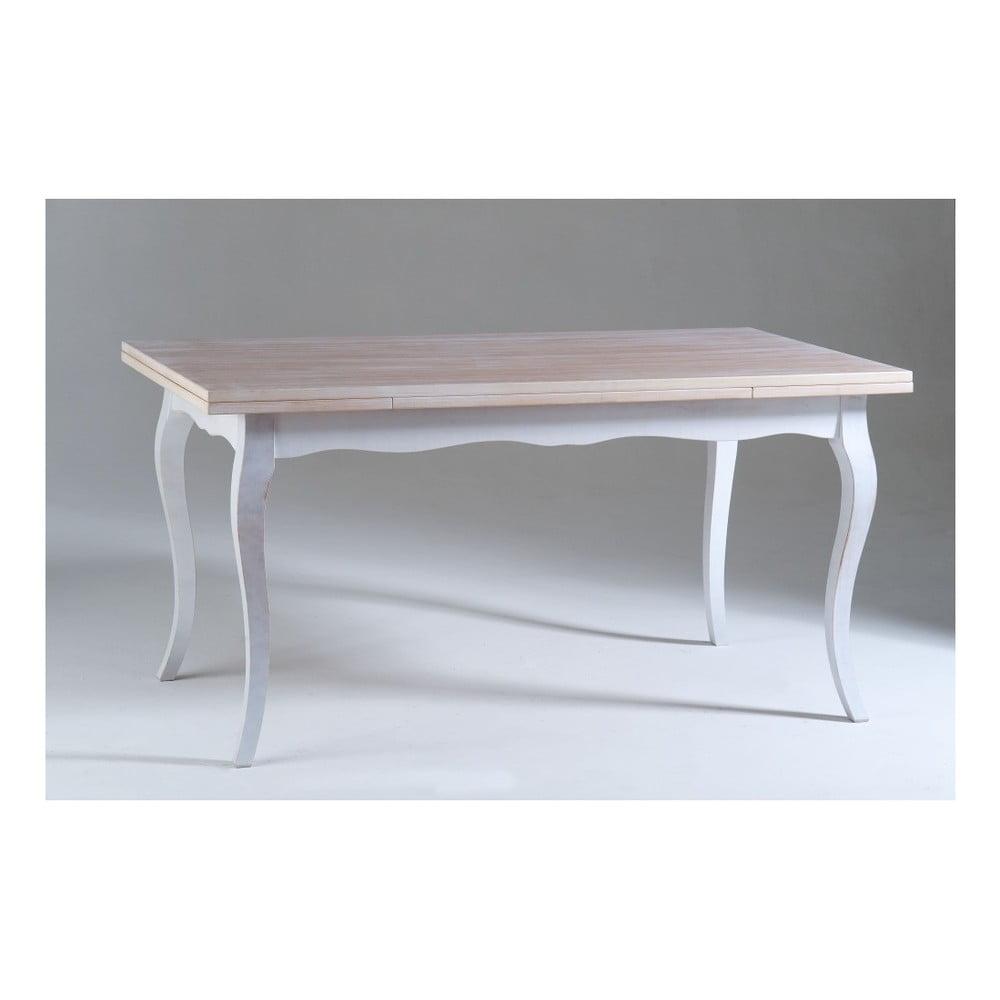 Bílý dřevěný jídelní stůl Castagnetti Chloe, 160 x 85 cm