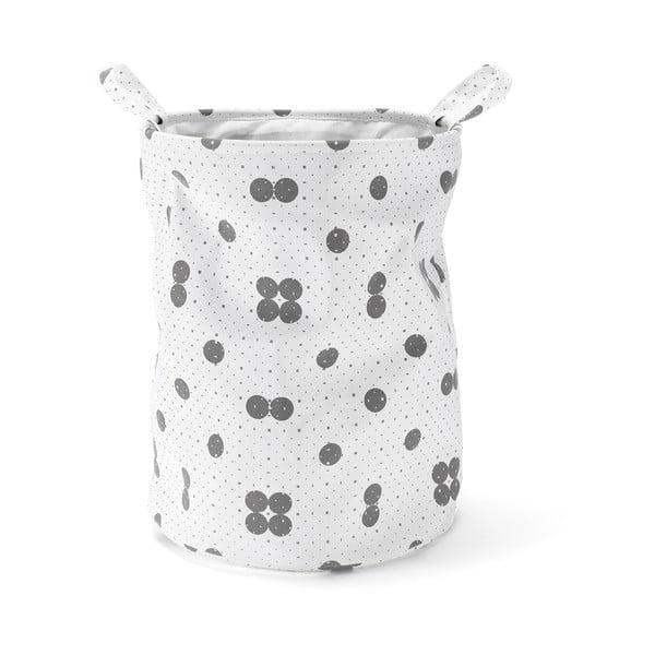 Úložný koš Dots Grey, 50 cm