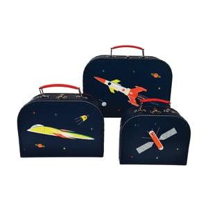 Sada 3 dětských kufříků Rex London Space Age
