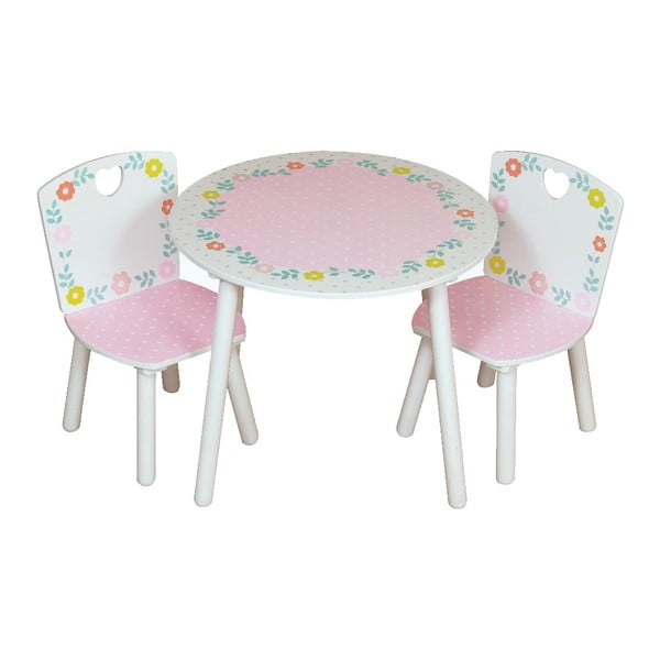 Dětský stolek a 2 židle Country Cottage
