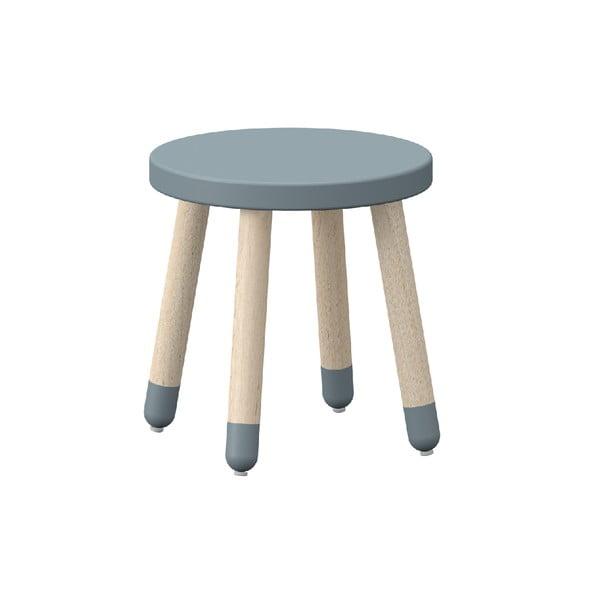 Niebieski stołek dziecięcy z drewna jesionowego Flexa Play, ø 30 cm