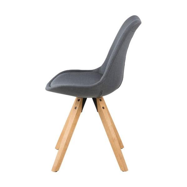 Sada 2 tmavě šedých jídelních židlí Actona Dima
