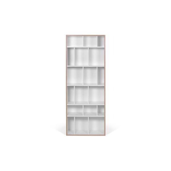 Bílá knihovna TemaHome Group, šířka 72 cm