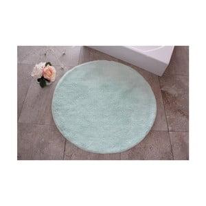 Zelená koupelnová předložka Confetti Bathmats Colors of Mint, ⌀ 90 cm