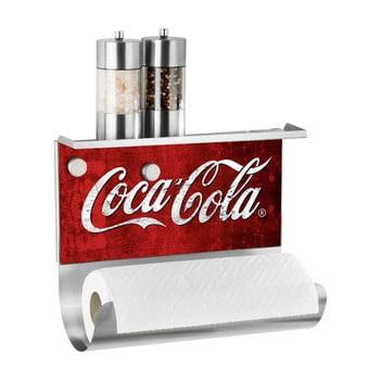 Suport magnetic pentru prosoape de bucătărie cu raft Wenko Coca-Cola Classic de la Wenko