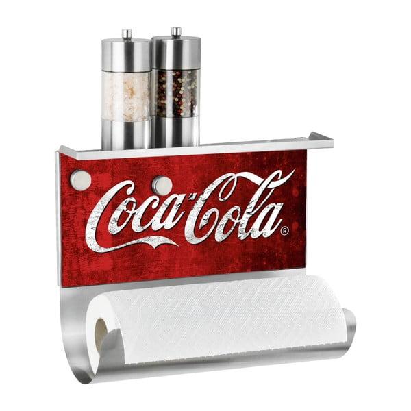 Magnetický držák na utěrku s poličkou Wenko Coca-Cola Classic
