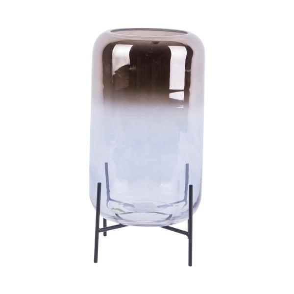 Sklenená váza PT LIVING Silver Fade, výška 29 cm