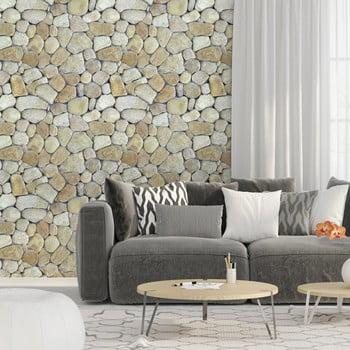 Autocolant pentru perete Ambiance Natural Pebble 40 x 40 cm
