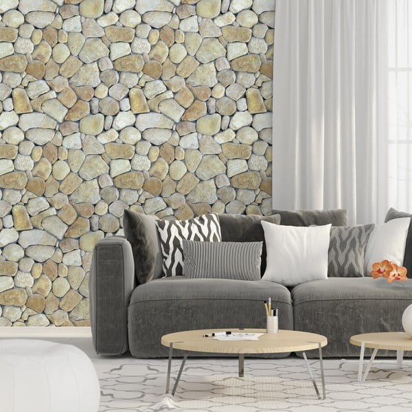Pebble dekoratív falmatrica, 40 x 40 cm - Ambiance