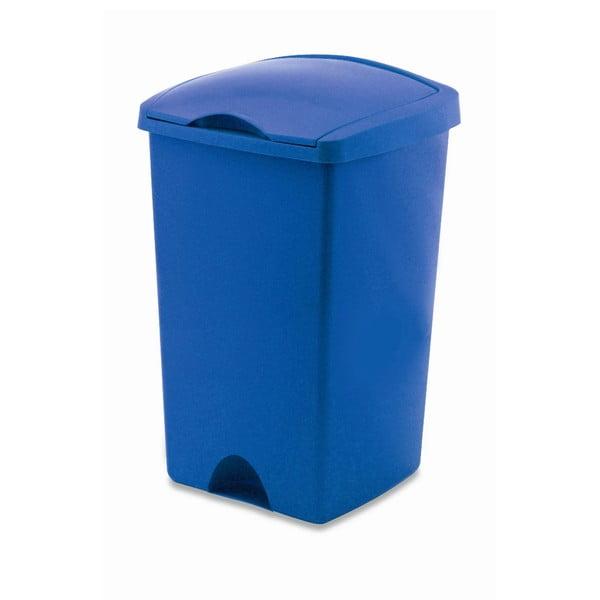 Modrý odpadkový koš s víkem Addis Lift, 50 l