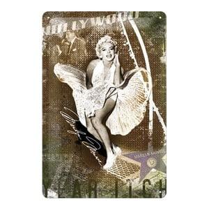 Plechová cedule Marilyn Hollywood, 20x30 cm