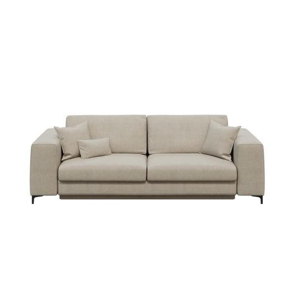 Rothe világosbézs háromszemélyes kinyitható kanapé - devichy