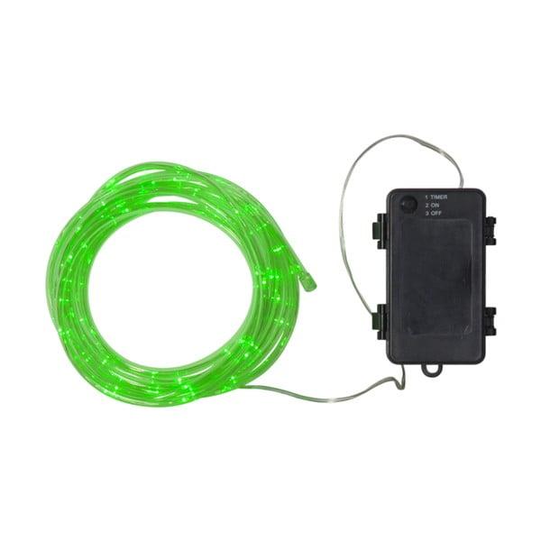 Zelená vonkajšia svetelná LED reťaz Best Season Tuby, 50 svetielok