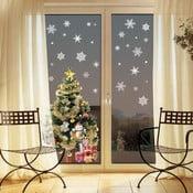 Samolepka Fanastick Christmas White Flakes, 30 kusů