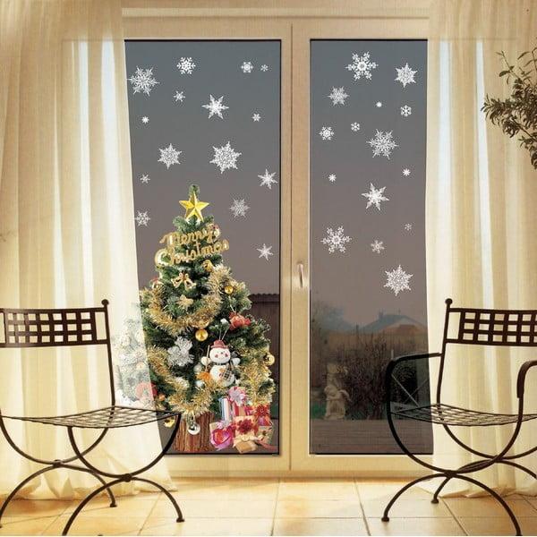 Set 30 autocolante Crăciun Ambiance Christmas White Flakes