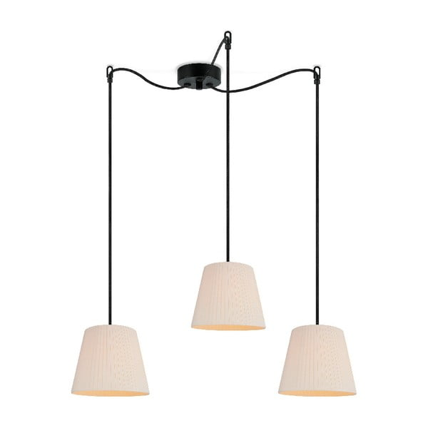 Světle béžové závěsné svítidlo Sotto Luce KAMI Elementary S 3S