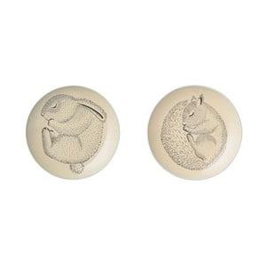 Sada 2 mělkých keramických talířů Bloomingville Adelyn Lento, ⌀20 cm