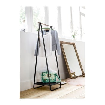 Suport pentru îmbrăcăminte cu raft Compactor Portant Blanc, negru imagine