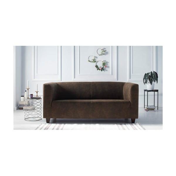 Set 2 canapele și fotoliu Bobochic Paris Django Preston, maro deschis