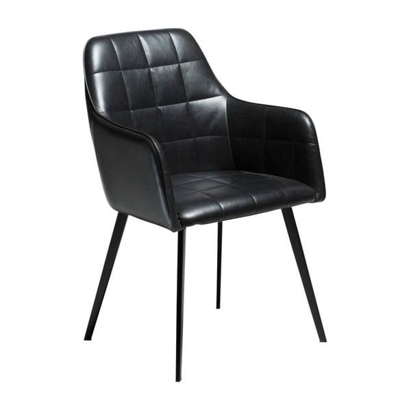 Černá koženková židle DAN-FORM Denmark Embrace Vintage