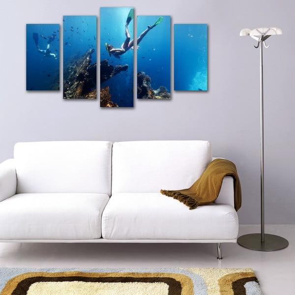 5dílný obraz Pod vodou