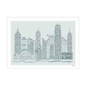 Plakát Hong Kong Grey&Grey, 50x70 cm