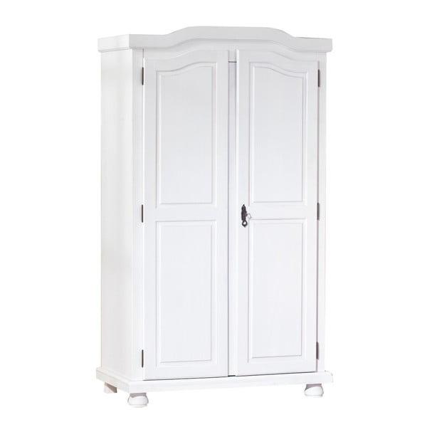 Bílá šatní skříň z masivního dřeva Interlink Hedda Dos