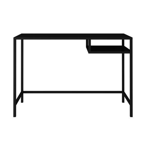 Černý kovový psací stůl Canett Lite