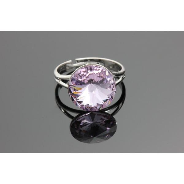 Prsten Rivoli Violet se Swarovski Elements, univerzální velikost