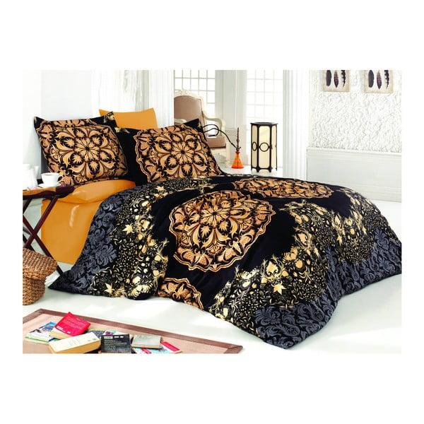 Lenjerie de pat cu cearșaf Golden, 160 x 220 cm