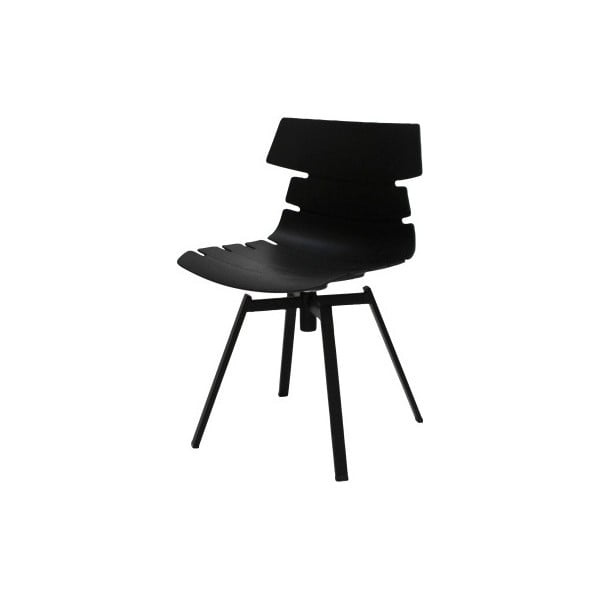 Černá jídelní židle s černým podnožím Canett Victor