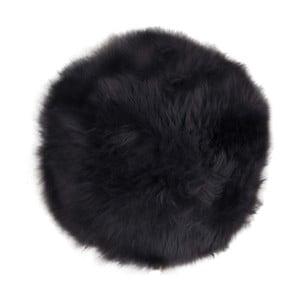 Blană de oaie House Nordic Circle, ø 35 cm, negru