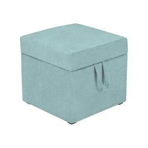 Světle modrá taburetka s úložným prostorem KICOTI Cube
