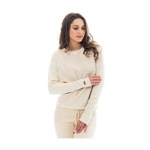 Krémová bavlněná mikina Lull Loungewear Devance, vel.XL
