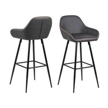 Set 2 scaune de bar Actona Candis, gri – bej de la Actona