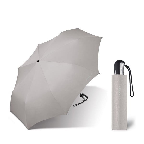 Svetlosivý skladací dáždnik Ambiance Esprit, ⌀ 94 cm