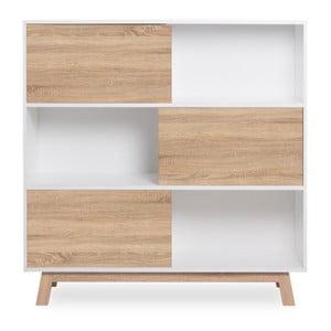 Bibliotecă cu aspect de lemn de stejar Intertrade Apart, alb
