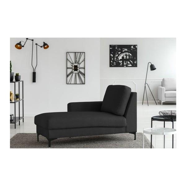 Tmavě šedý otoman Cosmopolitan design Atlanta, levý roh